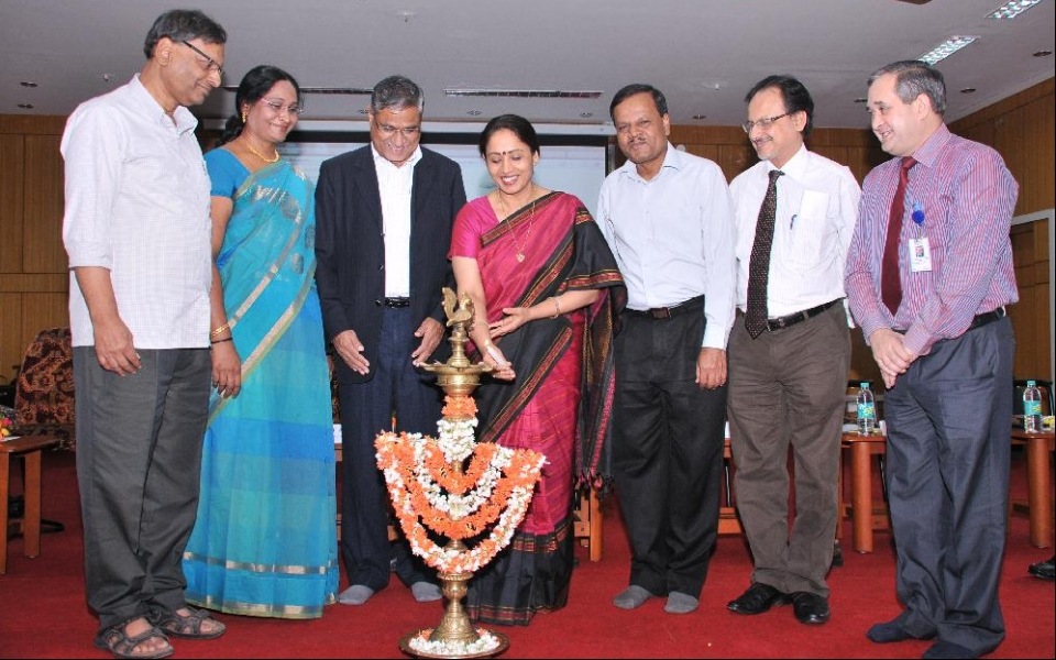Inauguration of National Conference on Indian Insurance Sector Innovation, Sustainability and Social Impact by Dr Shalini Rajneesh, Principal Secretary in charge of Tumkur District held on 22 Nov 2014