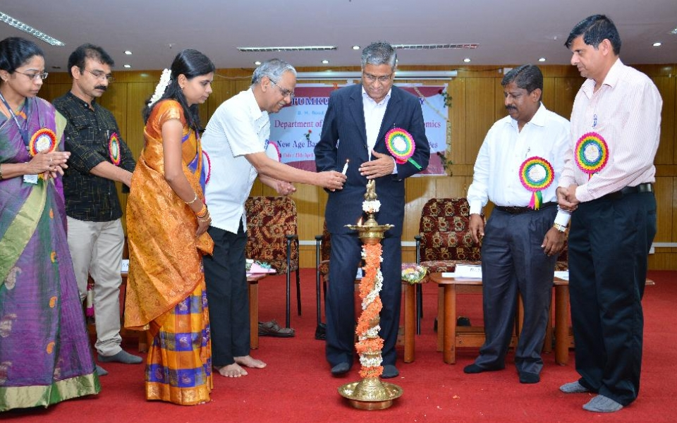 Inauguration of National Conference - New Age Banking in India: Issues and Challenges - by Sri K S Shyamprasad, IT Consultant and Rtd. Deputy General Manager, Canara Bank, Bangalore held on 25 April, 2015