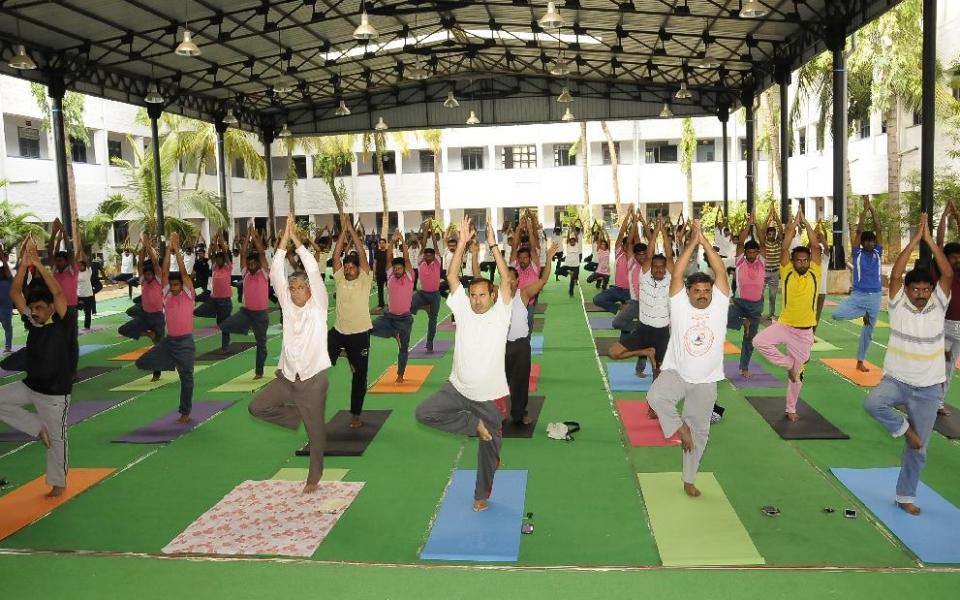 Celebration of International Day of Yoga, held on 21 June, 2016